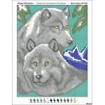 Вышивка бисером схемы пара волков
